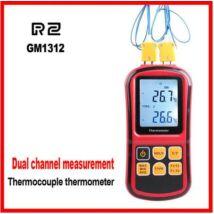2 Csatornás K-Típusú ipari digitális hőmérő AEP