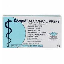 Alcohol Preps Antibakteriális törlőkendő 100db-os