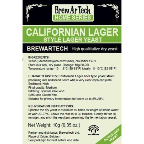 Brewartech California Lager sörélesztő