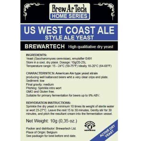 Brewartech US West Coast Ale  Sörélesztõ