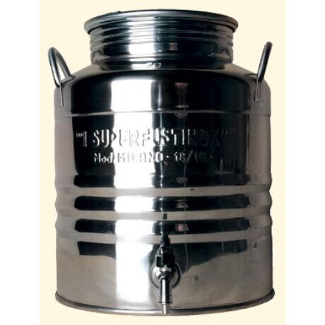 Inox erjesztő tartály csappal 100 L