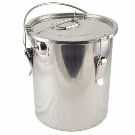 38 Literes csatos rozsdamentes badella