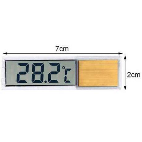 Digitális LCD Crystal hőmérő üvegre